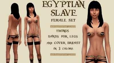 Sims 4 — Набор египетской рабыни | The Sims 4 моды