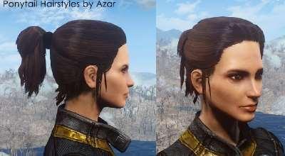 Fallout 4 — Новые женские причёски / Хвостики | Fallout 4 моды