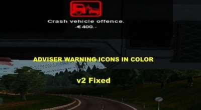 ETS 2 — Цветные иконки в Route Adviser (Adviser Warning Icons In Color) | ETS2 моды