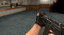 Counter Strike:Source — Ak-74 Reskin black | Counter Strike:Source моды