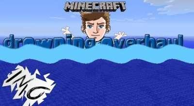 Minecraft — Drowning Overhaul / Исчерпаемый запас воздуха | Minecraft моды