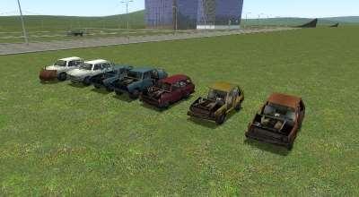 Пак машин из Half-Life 2