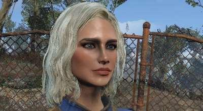 Fallout 4 — Светлые волосы с темными бровями (HAIR MOD — Blonde hair with Dark eyebrows) | Fallout 4 моды