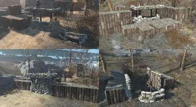 Fallout 4 — Новые оборонительные сооружения из мешков | Fallout 4 моды