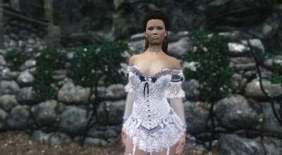 Skyrim — Свадебный наряд-3 UNP-HDT | Skyrim моды