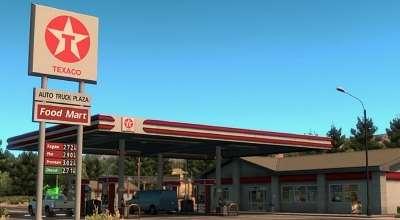 ATS — Реальные заправочные станции | American Truck Simulator моды