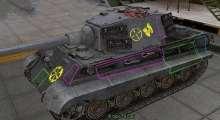 World Of Tanks 0.8.6 — Контурные зоны пробития от «Красной Звезды» | World Of Tanks моды