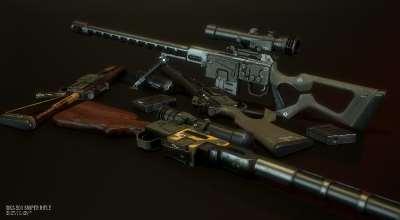 Fallout 4 — Снайперская винтовка DKS-501 | Fallout 4 моды