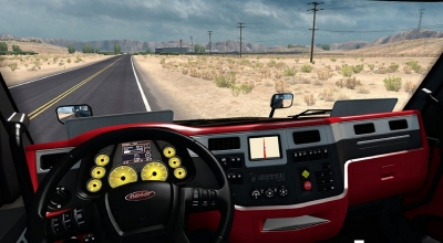 ATS — Новый интерьер для Peterbilt 579 | American Truck Simulator моды
