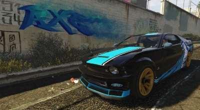 GTA 5 — Ретекстур Dominator (Ford Mustang Cobra Jet — Livery) | GTA 5 моды