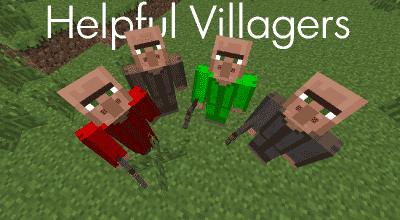 Minecraft — Helpful Villagers / Работящие жители деревень | Minecraft моды