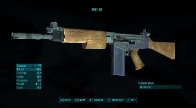 Fallout 4 — Автоматическая Винтовка R91 / RS 91 | Fallout 4 моды