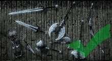 Skyrim — Улучшенные текстуры оружия из Сталгрима   Skyrim моды