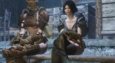 Skyrim — HDT Sitting Height Fix | Skyrim моды
