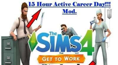 Sims 4 — 15-часовой рабочий день | The Sims 4 моды