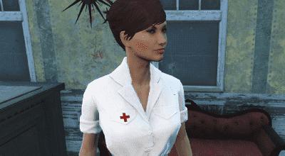 Fallout 4 — Довоенная форма медсестер (Laundered White Nurse Dress) | Fallout 4 моды