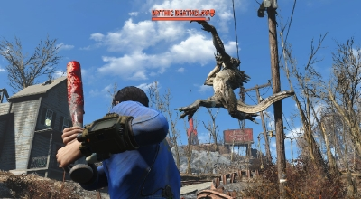 Fallout 4 — Мощнейшая бейсбольная бита | Fallout 4 моды
