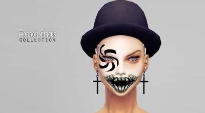 Sims 4 — Жуткая маска для лица HC Horror Face Paint | The Sims 4 моды