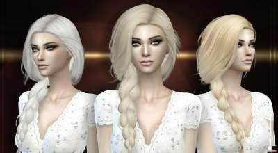 Sims 4 — Женская прическа с длинной косой Stealthic — Summer Haze | The Sims 4 моды