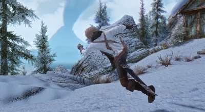 Skyrim — Новая анимация атаки на ходу (одноручное) | Skyrim моды